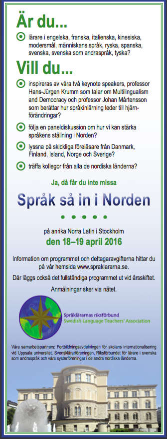 Språk så in i Norden annons